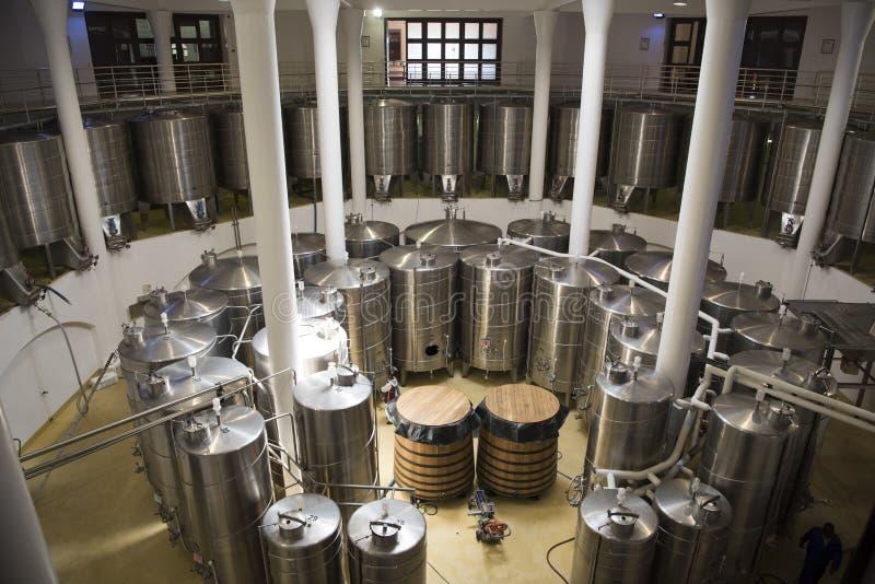 酒发酵罐 免版税图库摄影
