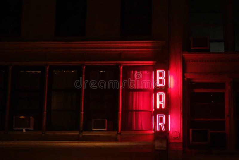 酒吧标志 库存图片