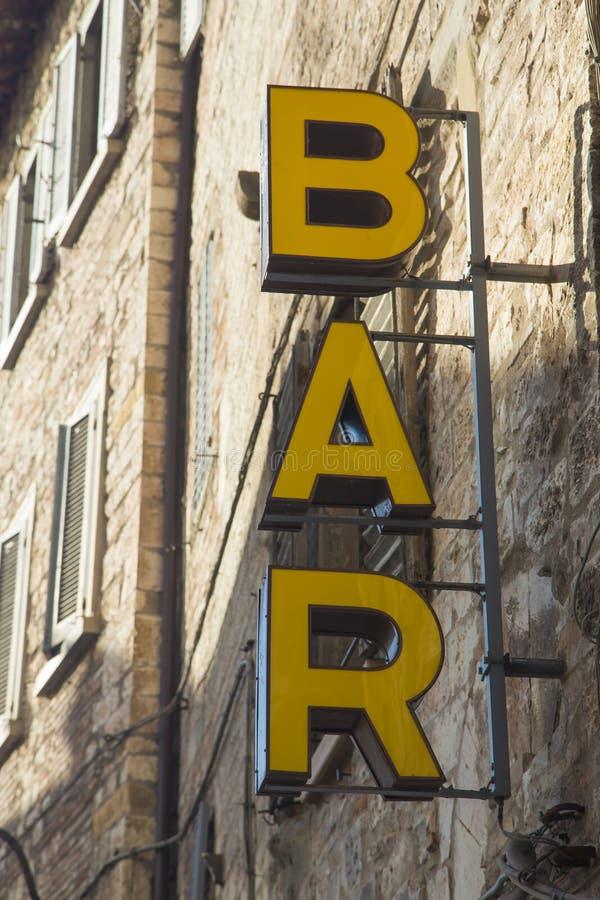 酒吧标志 免版税图库摄影
