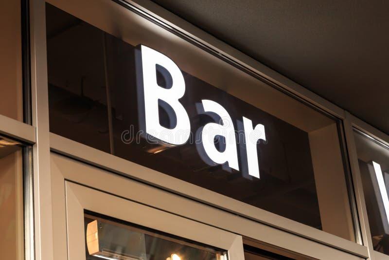 酒吧标志 图库摄影