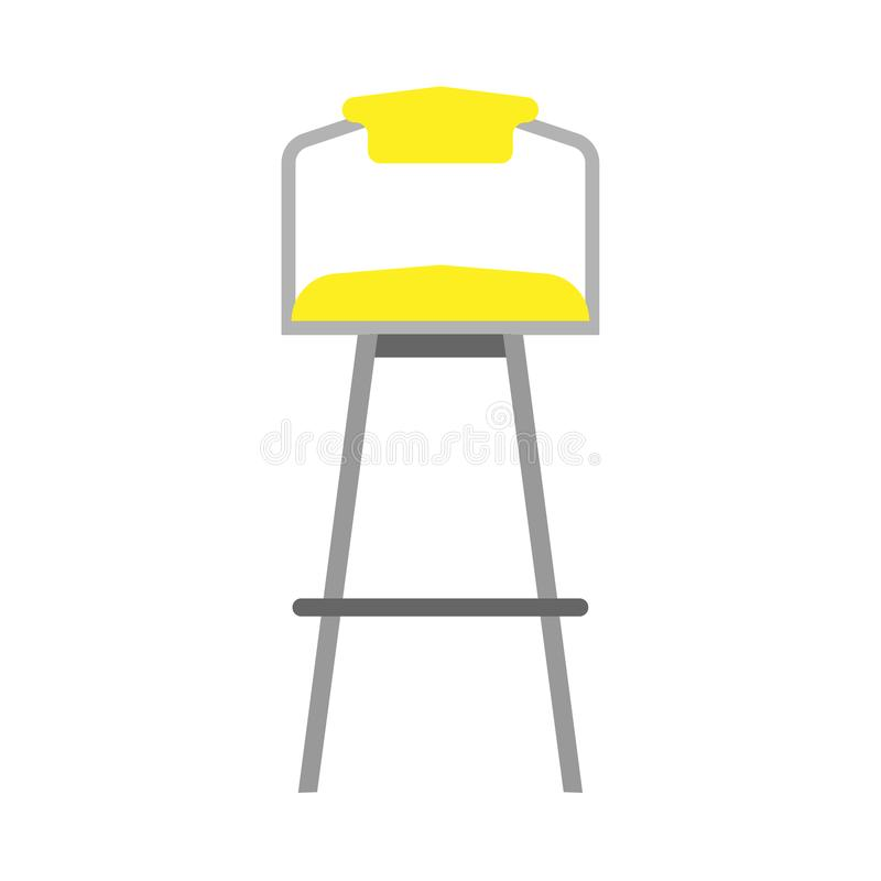 酒吧椅子样式装饰标志元素传染媒介象 餐馆高凳子内部家具室例证 库存例证