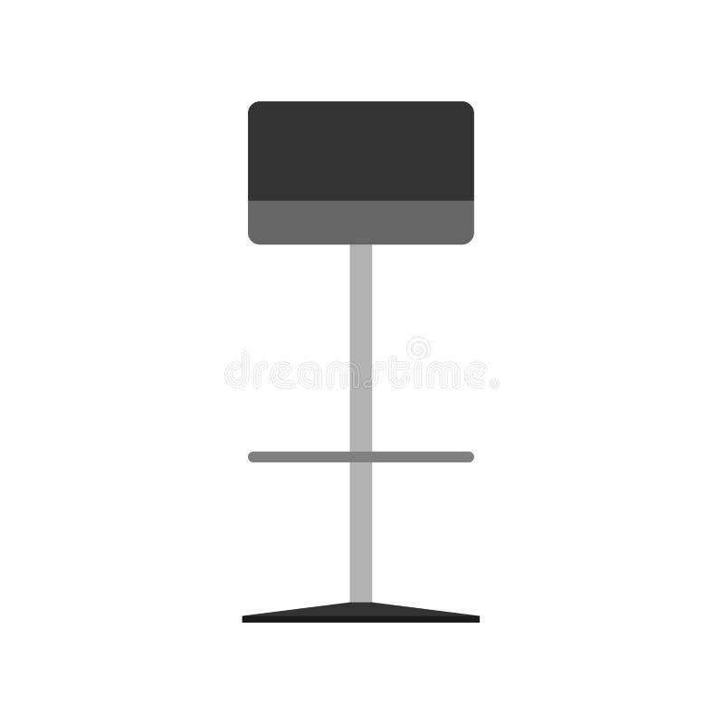 酒吧椅子样式装饰标志元素传染媒介象 餐馆高凳子内部家具室例证 皇族释放例证