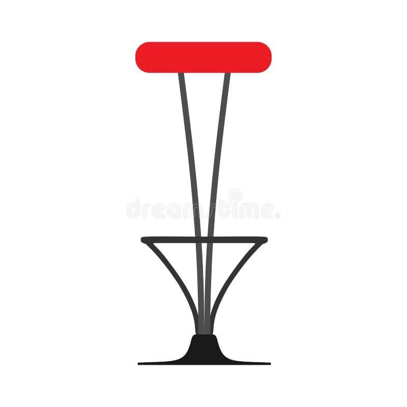 酒吧椅子样式装饰标志元素传染媒介象 餐馆高凳子内部家具室例证 向量例证