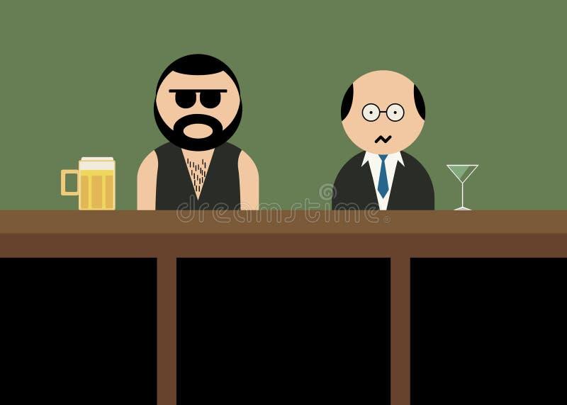 酒吧的残酷人 免版税图库摄影