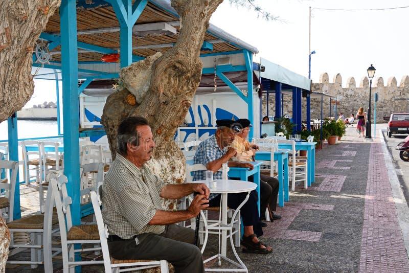 酒吧的,耶拉派特拉克里特岛人 库存图片