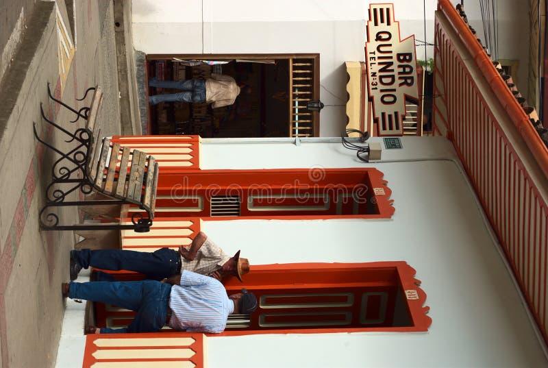 酒吧金迪奥省在Salento,哥伦比亚 免版税库存照片