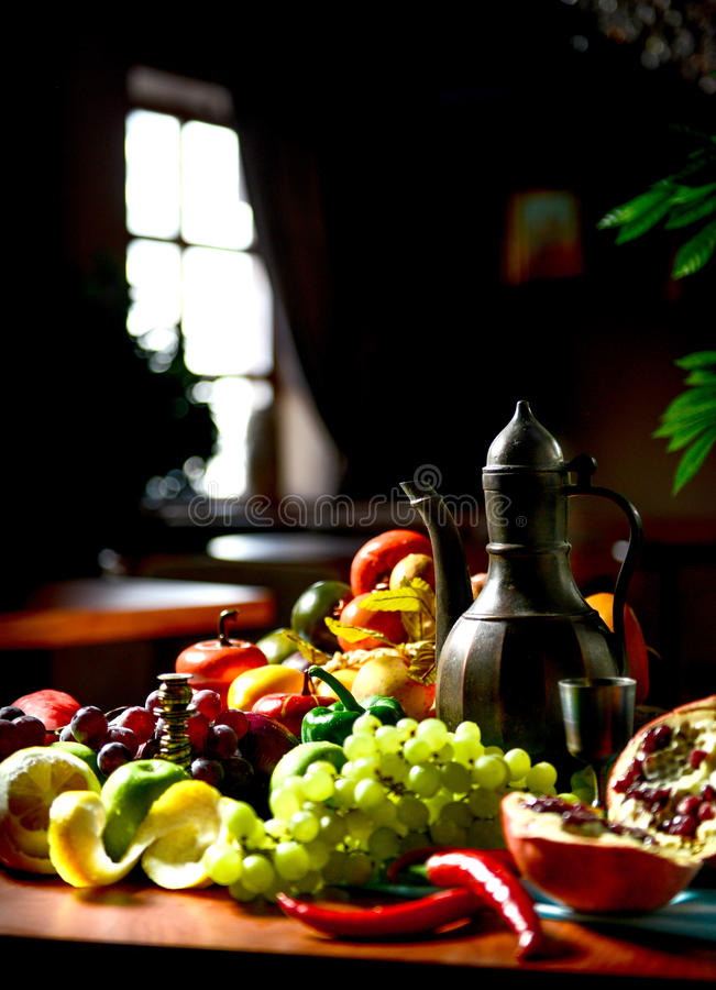 酒和果子 库存图片