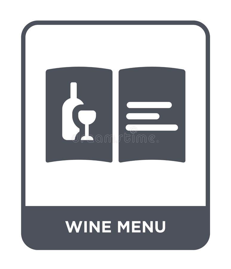 酒在时髦设计样式的菜单象 酒在白色背景隔绝的菜单象 酒菜单传染媒介象简单和现代舱内甲板 皇族释放例证