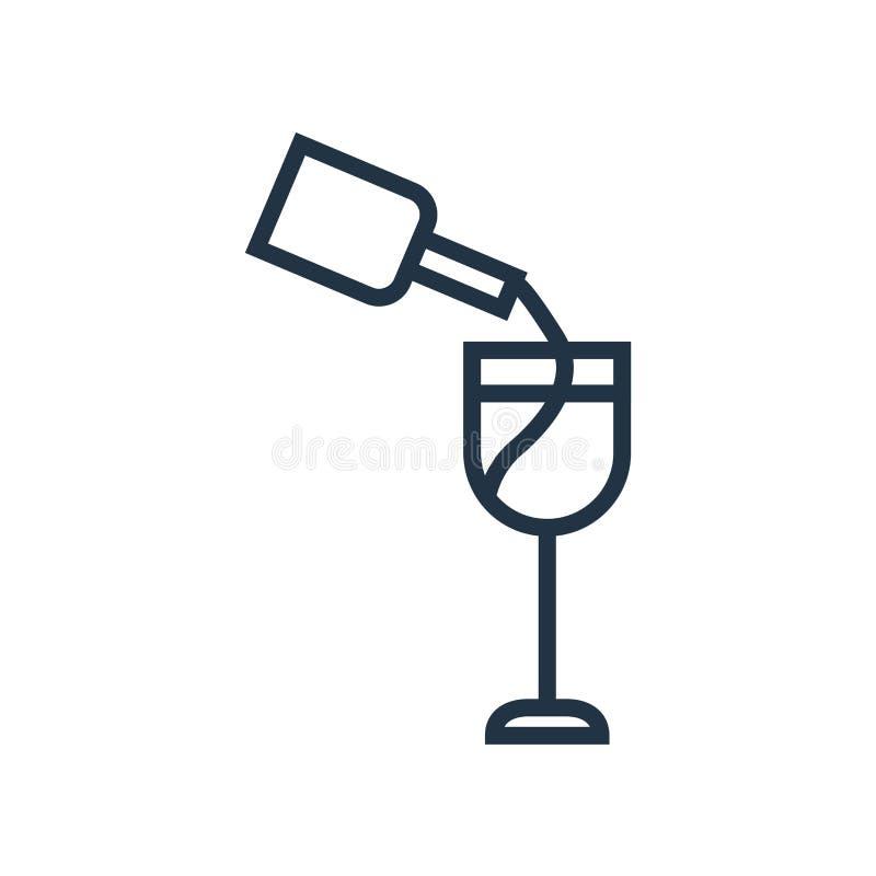 酒在白色背景隔绝的象传染媒介,酒标志 皇族释放例证