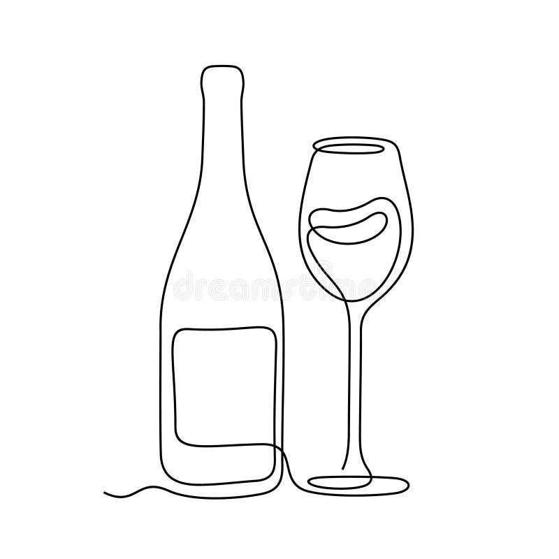 酒实线传染媒介例证 库存图片