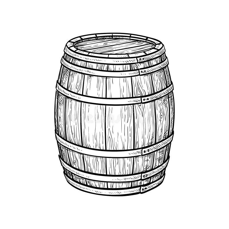 酒或啤酒桶 皇族释放例证