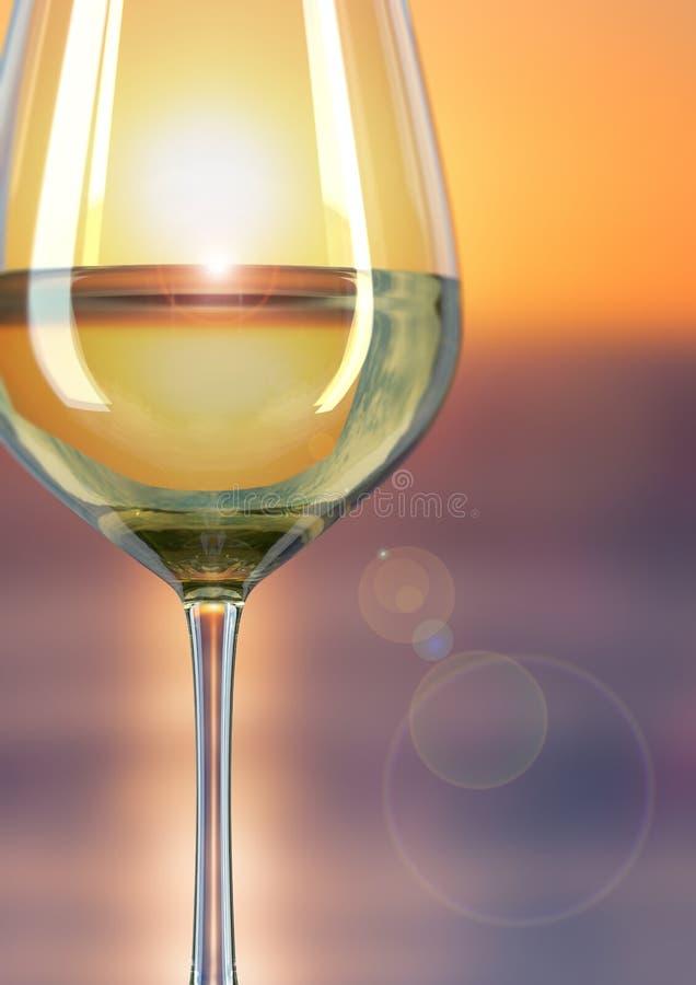 酒日落玻璃  库存图片