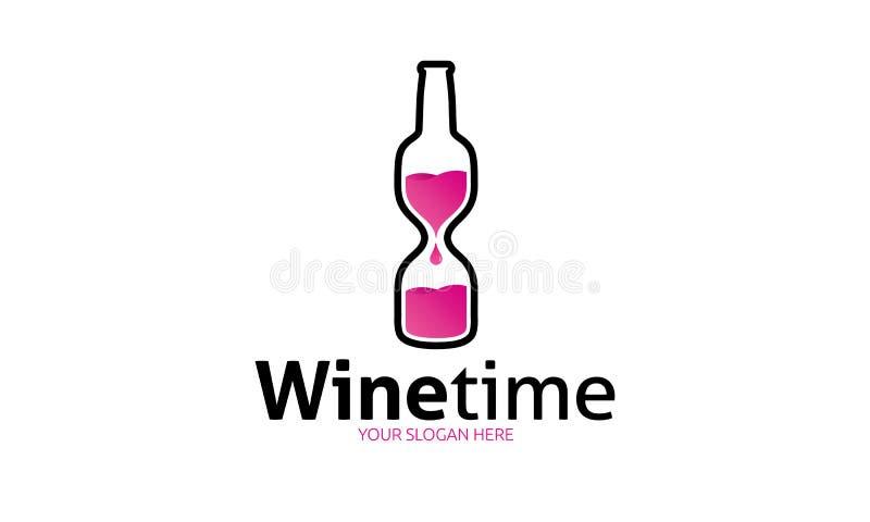 酒时间商标模板 库存例证