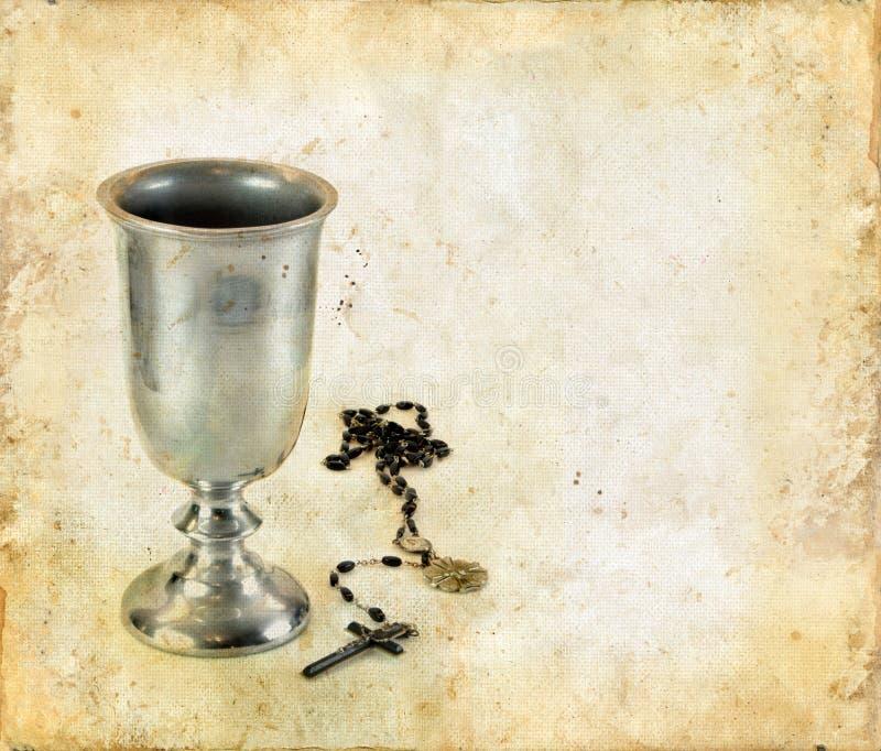 酒杯圣餐念珠 图库摄影