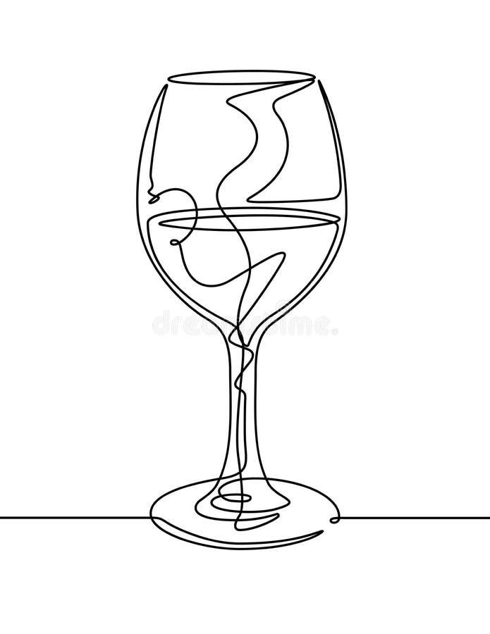 download 酒杯实线传染媒介 向量例证.图片