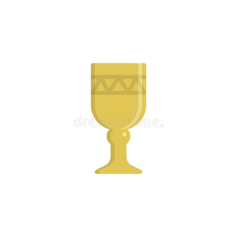 酒杯平的象 库存例证
