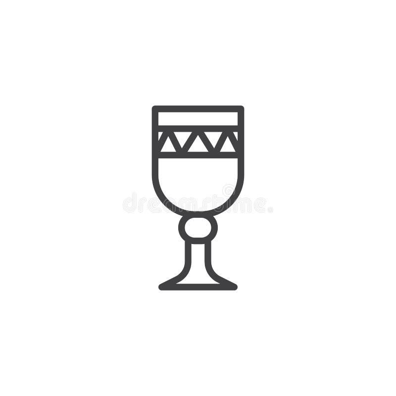 酒杯概述象 向量例证