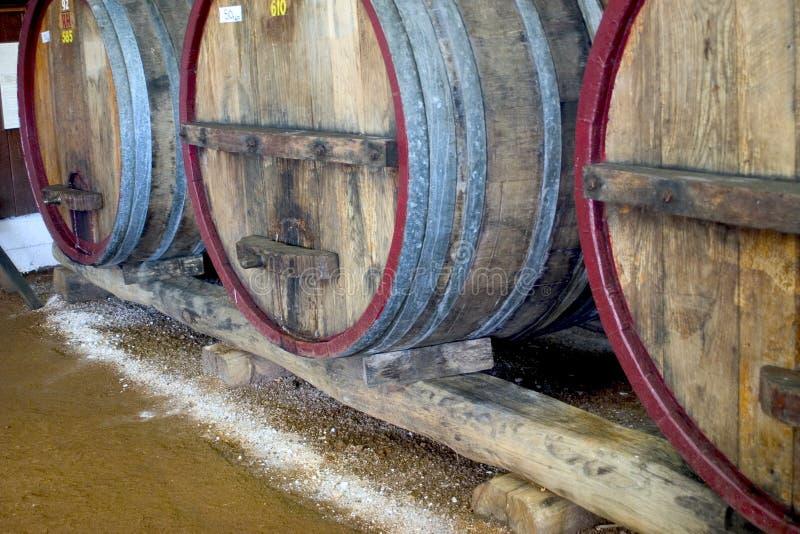 酒桶酒 库存图片