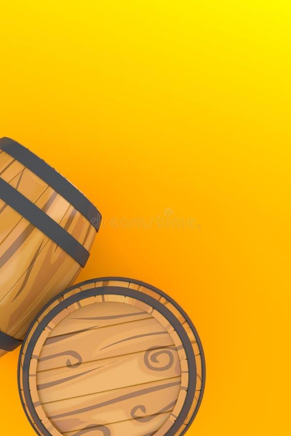 酒桶 向量例证