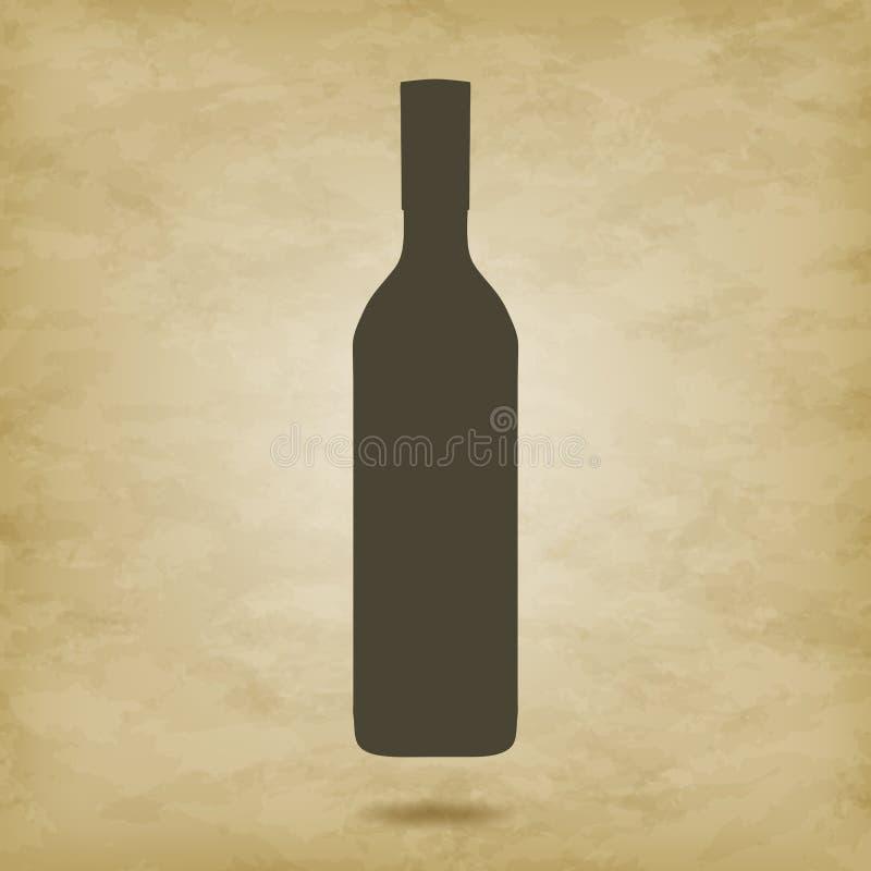 酒瓶传染媒介 库存例证
