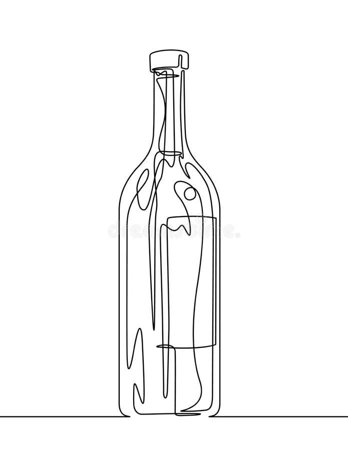 酒瓶实线传染媒介图片
