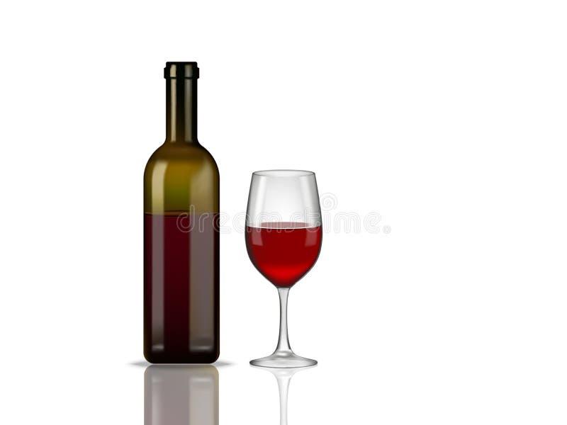 酒瓶玻璃 向量例证