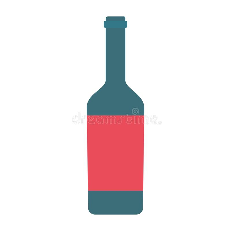 酒瓶象 库存例证