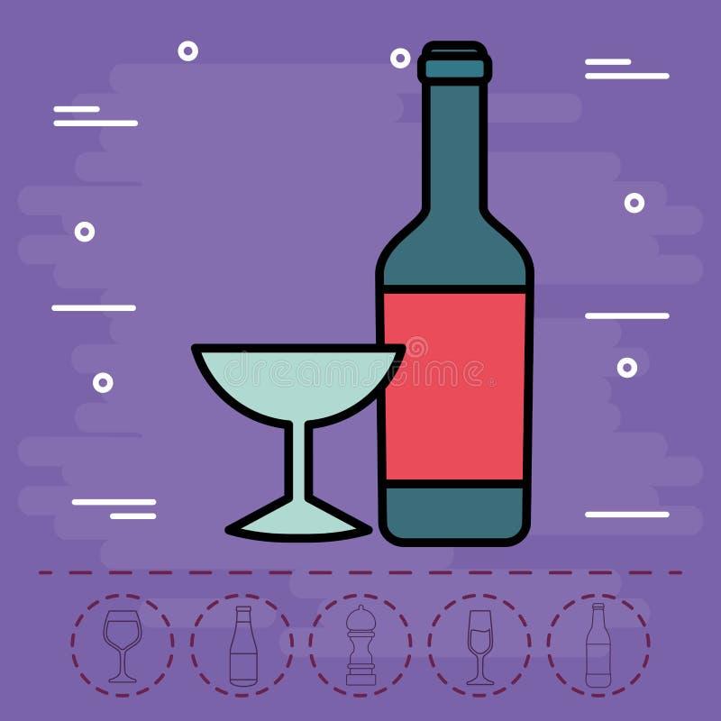 酒瓶象 向量例证