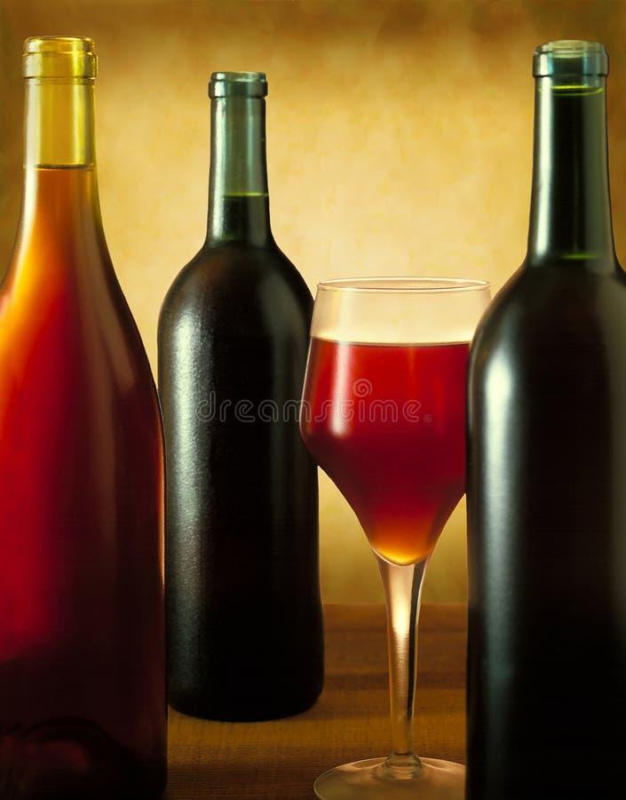 酒瓶静物画 库存照片