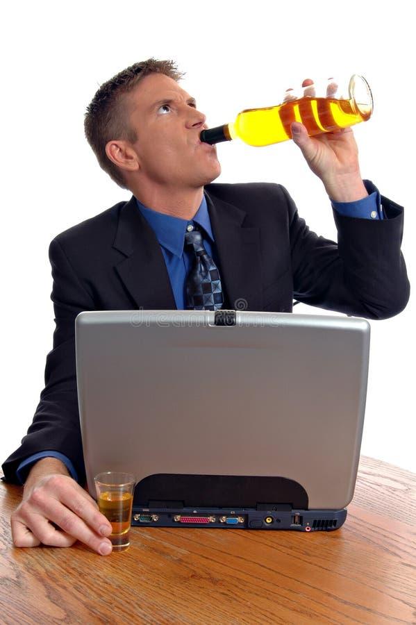 酒精中毒 库存图片