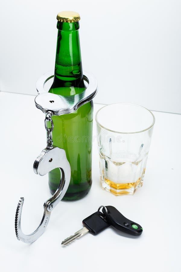 酒精和汽车关键字 库存照片
