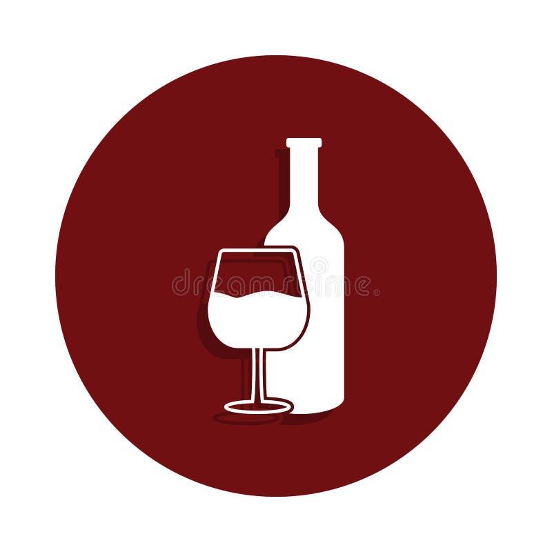 酒精在纵的沟纹徽章样式的消耗量象 一坏habbits汇集象可以为UI/UX使用 库存例证