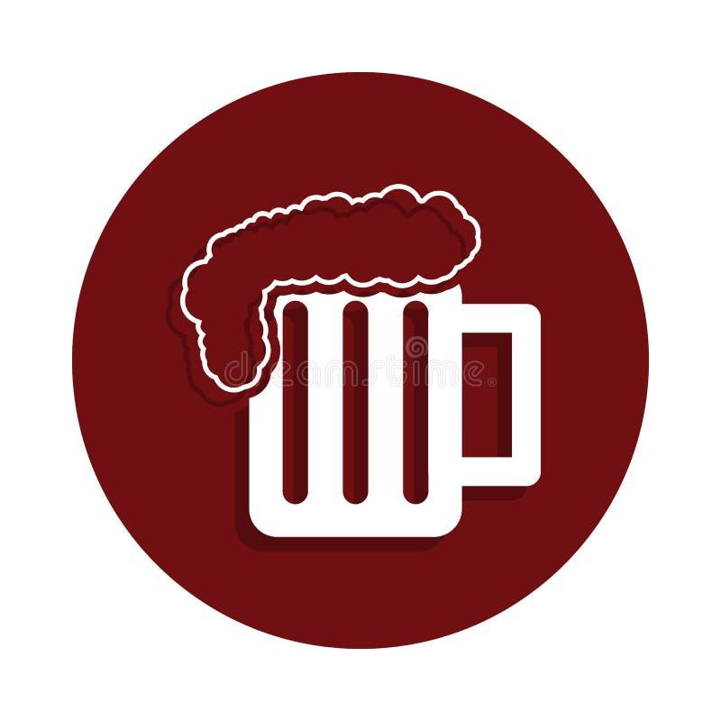 酒精在纵的沟纹徽章样式的消耗量象 一坏habbits汇集象可以为UI/UX使用 向量例证