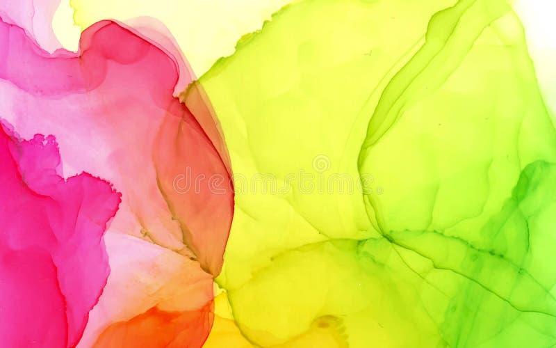 酒精墨水传染媒介明亮的颜色抽象背景 向量例证