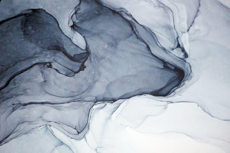 酒精墨水,抽象绘画 图库摄影