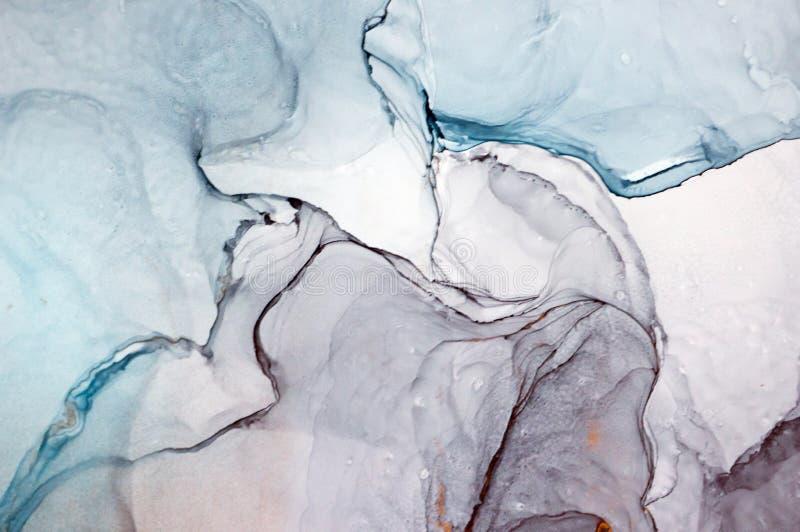 酒精墨水,抽象绘画 免版税库存图片