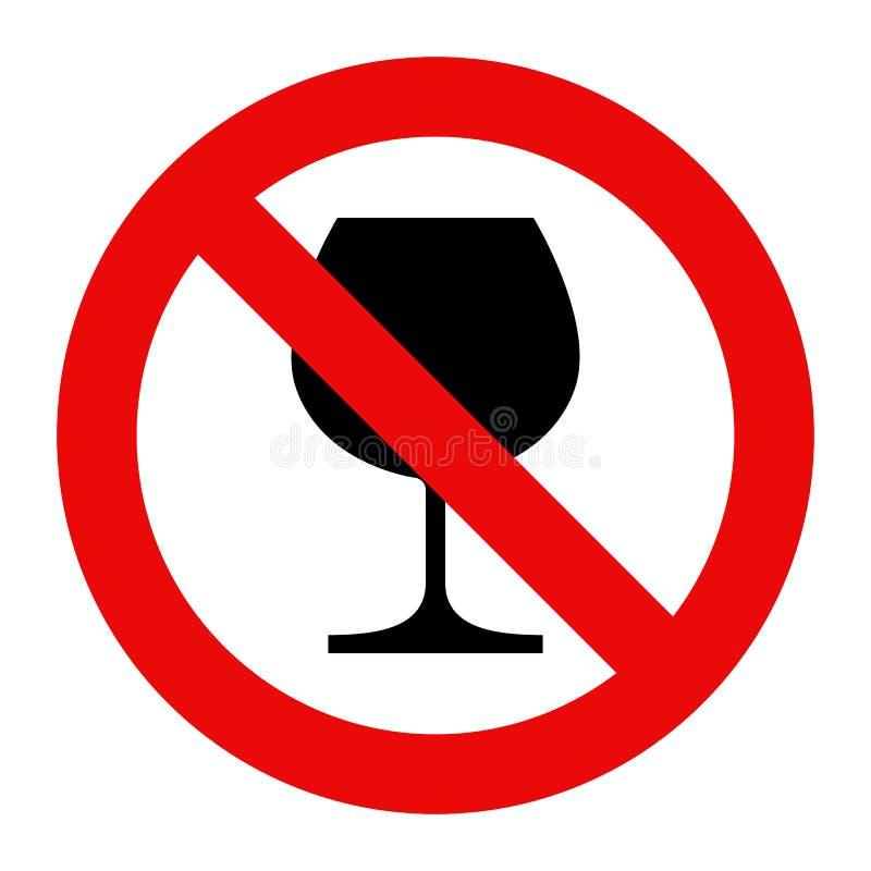 酒精没有符号 皇族释放例证