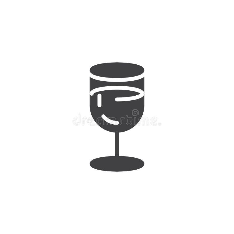 酒杯传染媒介象 库存例证