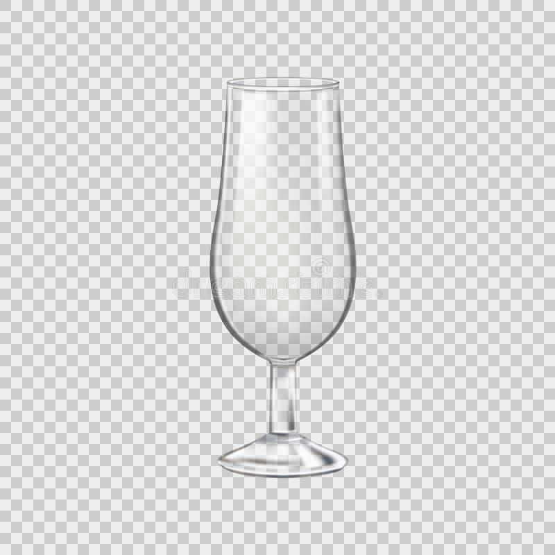 酒精饮料的,透明玻璃空的玻璃岩石 ?? 向量例证
