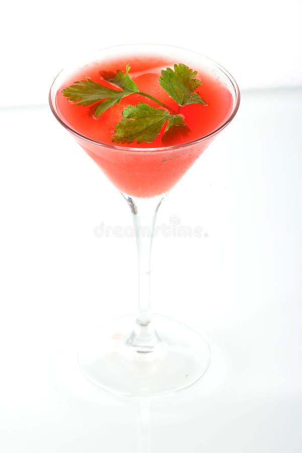 酒精鸡尾酒石榴汁糖浆汁桔子 库存图片