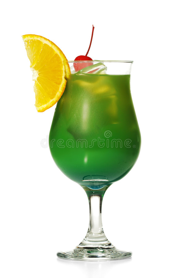 酒精鸡尾酒绿色 库存图片