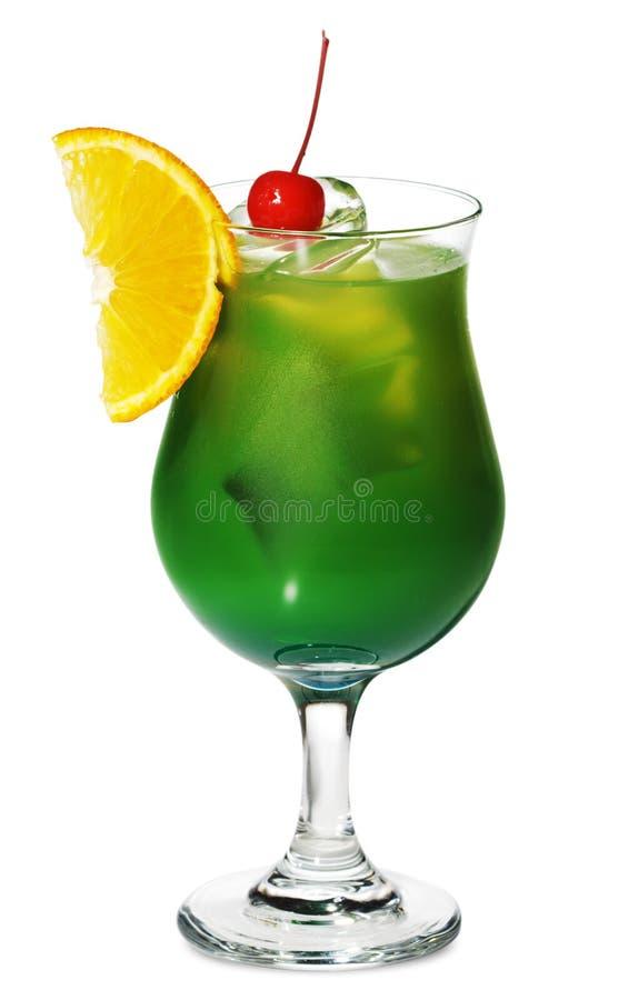 酒精鸡尾酒绿色 免版税库存照片