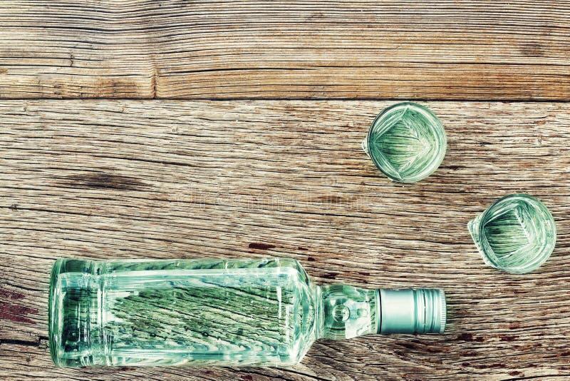 酒精,瓶,杜松子酒,饮料,玻璃,放松,拷贝空间 库存图片