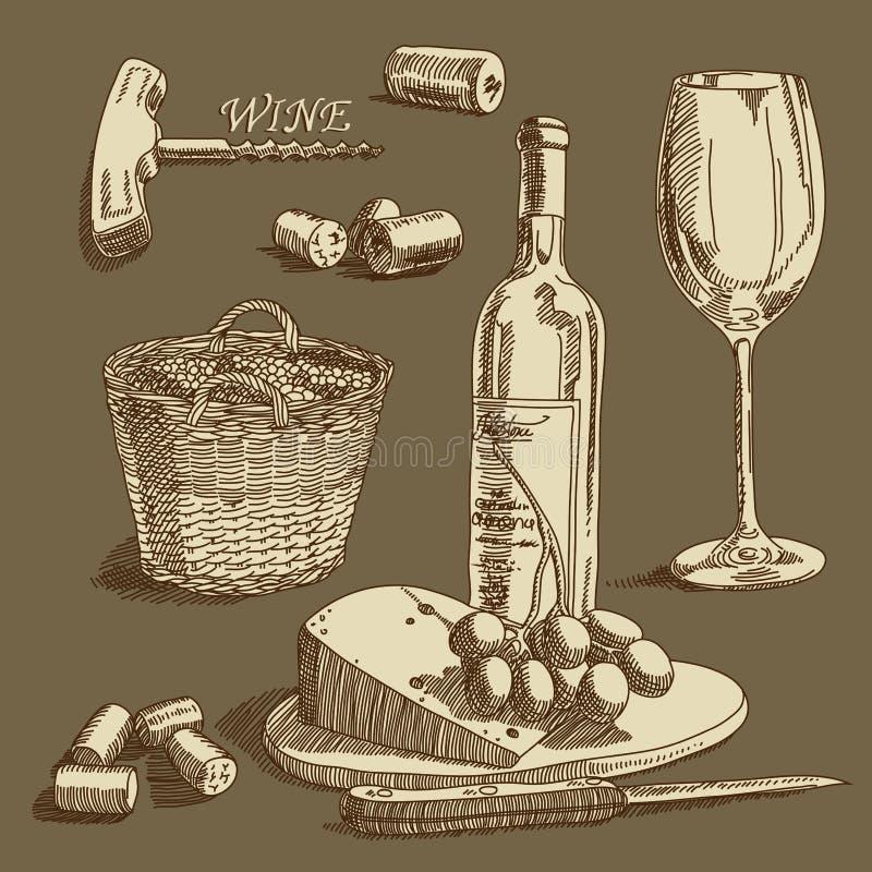 酒背景 库存例证