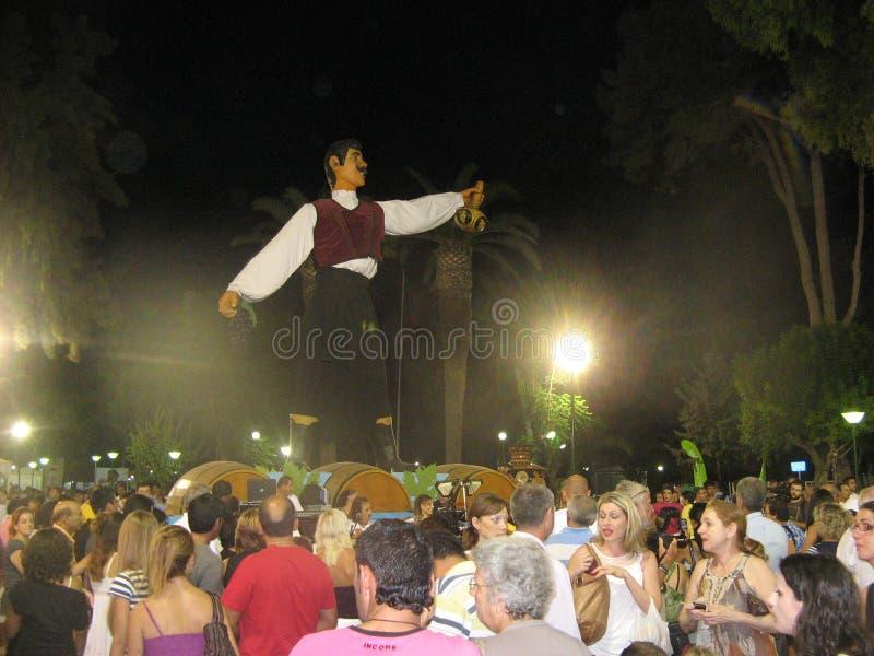 酒节在利马索尔,塞浦路斯 库存图片