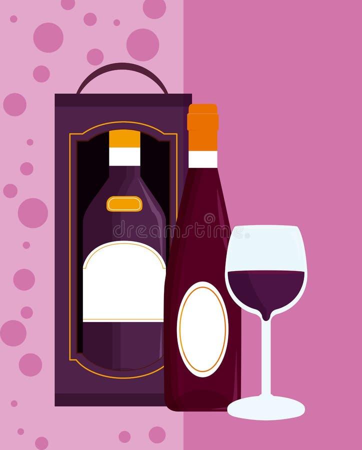 酒菜单盖子 库存例证
