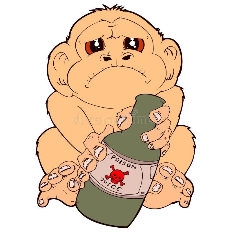 酒醉猴子 免版税库存照片