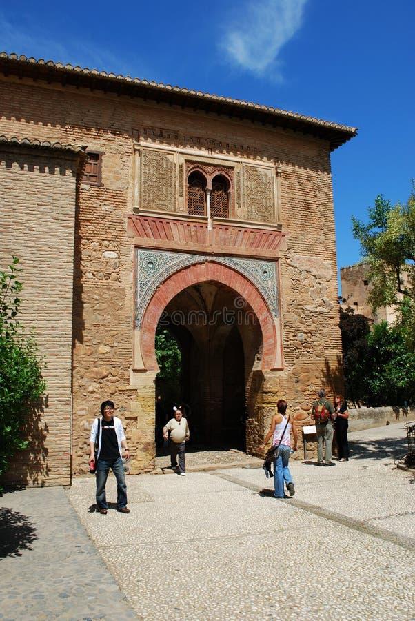 酒门,阿尔罕布拉宫宫殿 库存照片