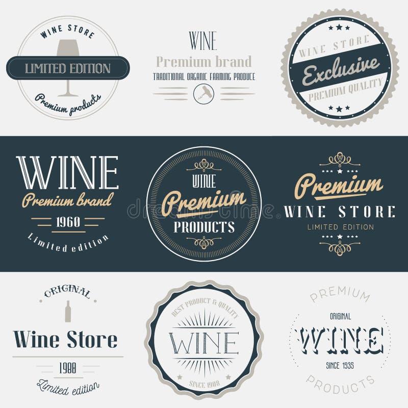 酒饮料标号组 品牌设计元素 皇族释放例证