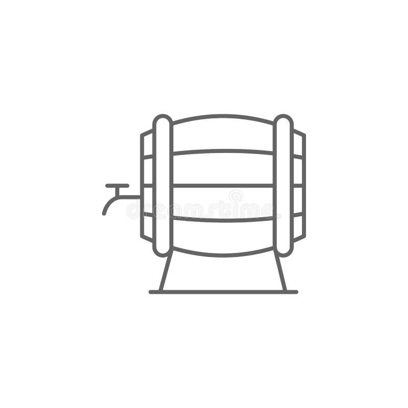 酒,桶象 巴黎象的元素 : 皇族释放例证